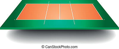 volleyball court with perspective
