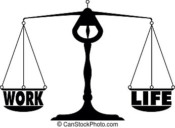 detailed illustration of a work life balance