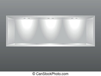 exhibition shelf - detailed illustration of an exhibition...
