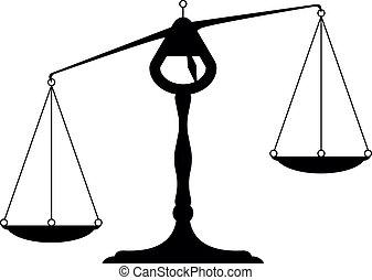 balance - detailed illustration of an unbalanced balance