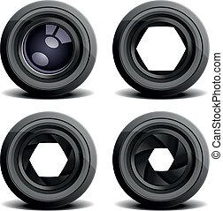 camera lenses - detailed illustration of camera lenses