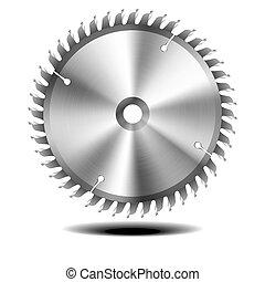 circular saw blade - detailed illustration of circular saw...