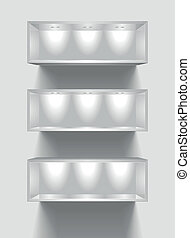 exhibition shelves - detailed illustration of exhibition...