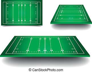 rugby fields - detailed illustration of rugby fields with...