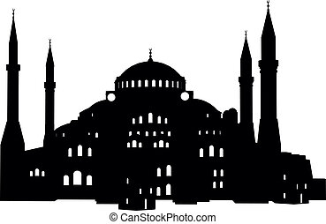 Hagia Sofia - detailed illustration of the Hagia Sofia in...