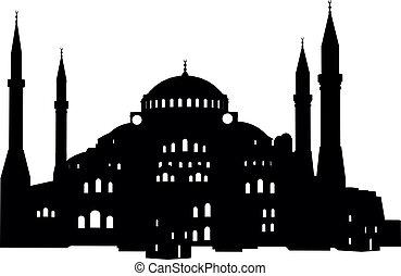 Hagia Sofia - detailed illustration of the Hagia Sofia in ...