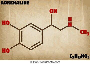 Detailed illustration of the molecule of Adrenaline