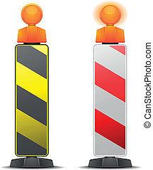 safety pole - detailed illustration of traffic and...