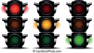 traffic lights - detailed illustration of traffic lights ...
