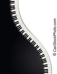 detailed illustration of wavy piano keys, eps10 vector