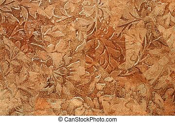 Detailed image of a linoleum