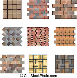 Paving stone - Detailed landscape design elements. Make your...