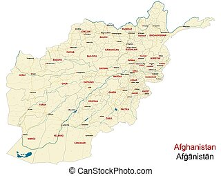 Detailed map of Afghanistan