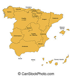 Map Of Spain With Airports.Detailed Map Of Spain With All Regions And With Airports Jpg Good