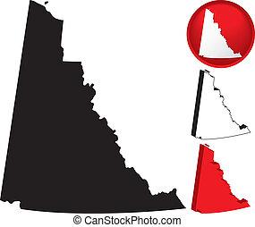 Detailed Map of Yukon Territory, Canada