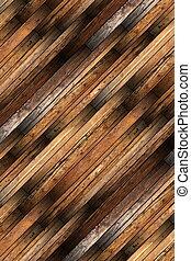 detailed old mahogany parquet
