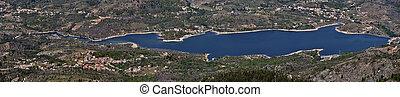 Panorama of Calacuccia Lake in Central Corsica