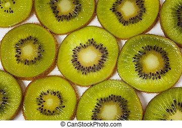 pattern made of kiwi slices