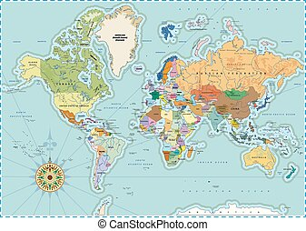 Political world map detailed world map with all names of countries detailed political world map gumiabroncs Image collections