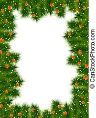 Detailed realistic christmas frame. EPS 10 - Detailed...
