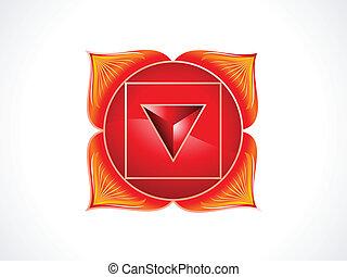 detailed root chakra vector illustration