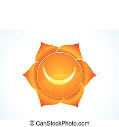 detailed sacral chakra vector illustration