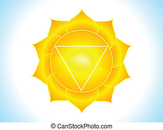 detailed solar plexus chakra vector illustration