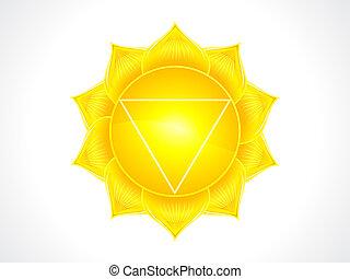 detailed solar plexus chakra vector illustration