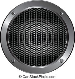 Detailed speaker icon - Illustration of a speaker on white...