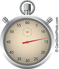 Detailed stopwatch - Vector illustration of Detailed...