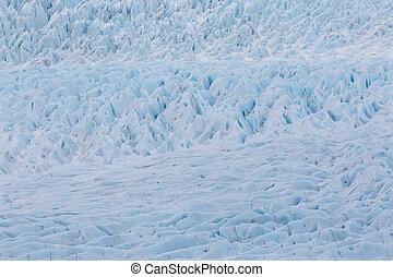 detailed surface structure of Vatnajokull glacier