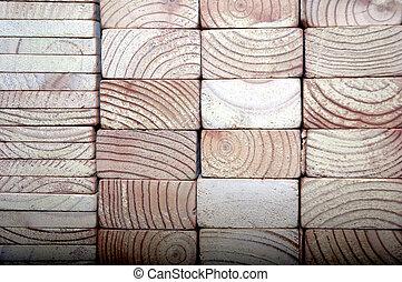 wooden block - detailed texture of the brown wooden block