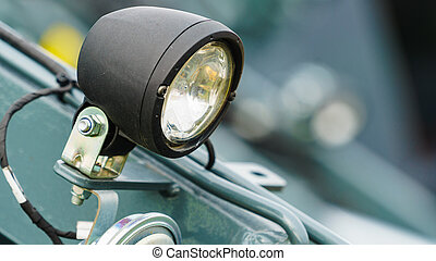 Detailed tractor round lights