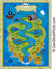 Treasure Map - Detailed Treasure Map
