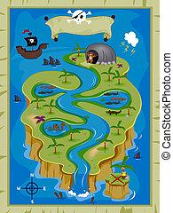 Treasure Map - Detailed Treasure Map