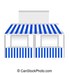 Detailed vector illustration of a stall.
