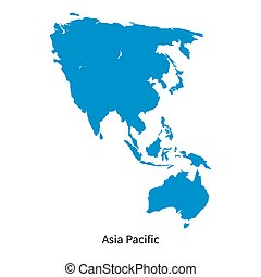 Detailed vector map of Asia Pacific Region