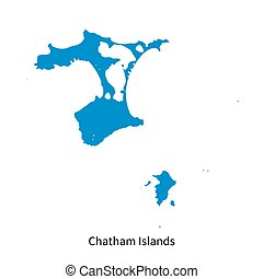 Detailed vector map of Chatham Islands