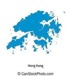 Detailed vector map of Hong Kong