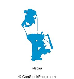 Macau political map also spelled macao english labeling vector
