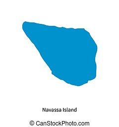 Detailed vector map of Navassa Island