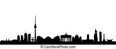 detailed vector skyline of Berlin