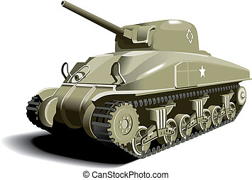 American Tank - Detailed vectorial image of American Tank -...