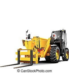 telescopic loader - detailed vectorial image of modern...