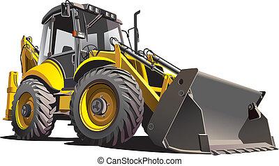 backfiller - detailed vectorial image of yellow backfiller,...