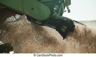 detailed view of combine straw chopper