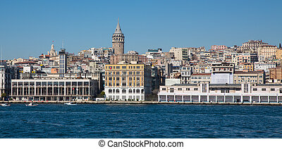 Istanbul and Galata tower - Detailed view of Istanbul and...