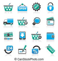 Detailhandel, shoppen, iconen
