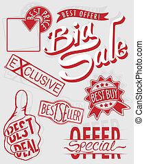 detailhandel, verkoop teken