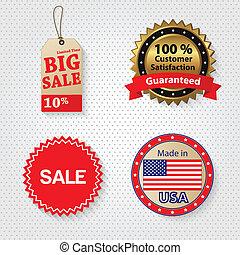 detailhandel, verkoopmarkering, set